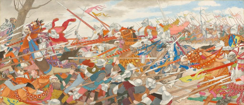 The Turmoil of Conflict (Joan of Arc series: IV)  Louis Maurice Boutet de Monvel